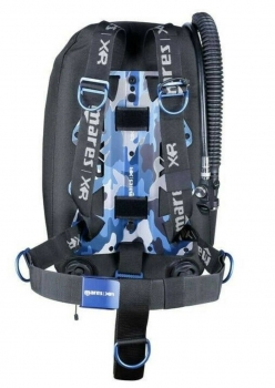 Mares XR Single-Backmount Set Psycho Calavera blue - Limited Edition